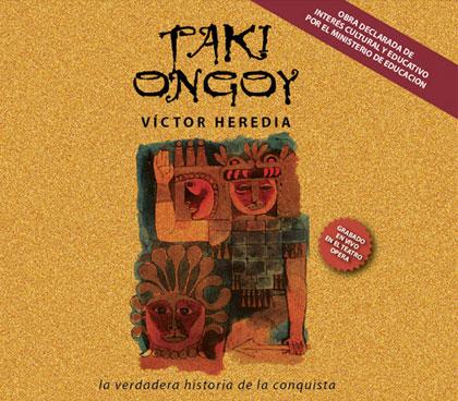 Portada del disco «Taki Ongoy en vivo» de Víctor Heredia.