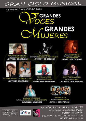 Cartel del ciclo «Grandes Voces, Grandes Mujeres»