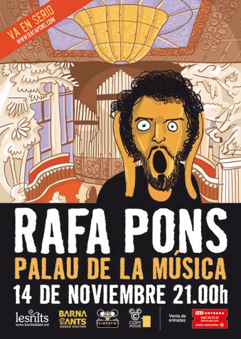 Cartel del concierto «En serio» de Rafa Pons