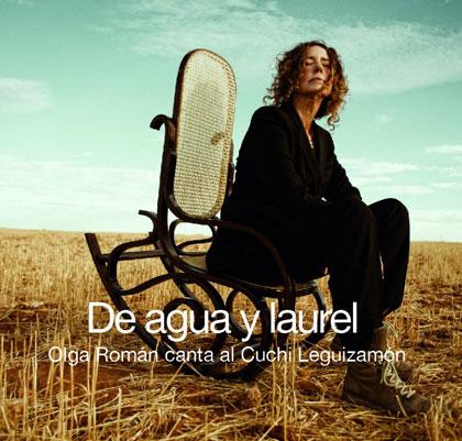 Portada del disco «De agua y laurel» de Olga Román.