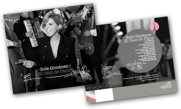 Portada y contraportada del disco «El cielo de París» de Sole Giménez.