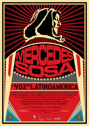 Cartel del documental sobre Mercedes Sosa.