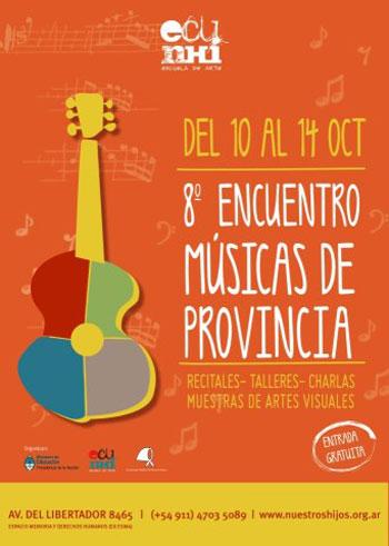 Cartel del VIII Encuentro Música de Provincia 2012.