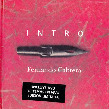 Portada del libro-disco «Intro» de Fernando Cabrera