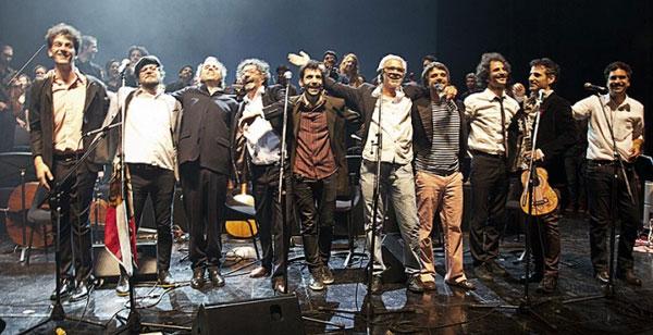 Final de fiesta en el Teatro Coliseo de Buenos Aires.