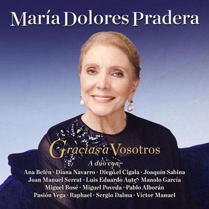 Portada del disco «Gracias a vosotros» en homenaje a María Dolores Pradera.
