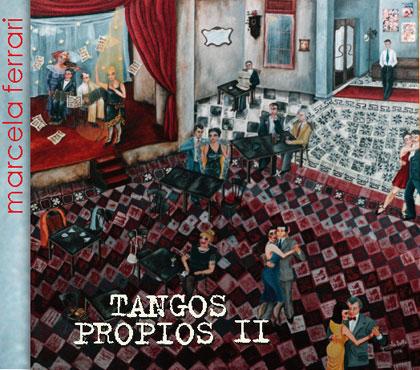 Portada del disco «Tangos Propios II» de Marcela Ferrari.