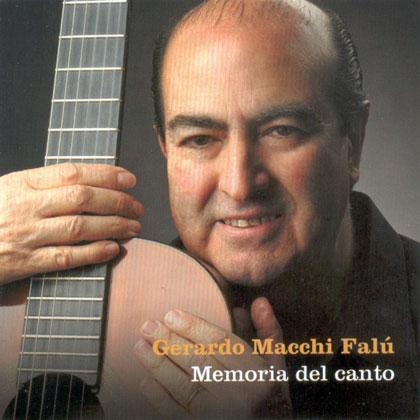 Portada del disco «La memoria del canto» de Gerardo Macchi Falú.