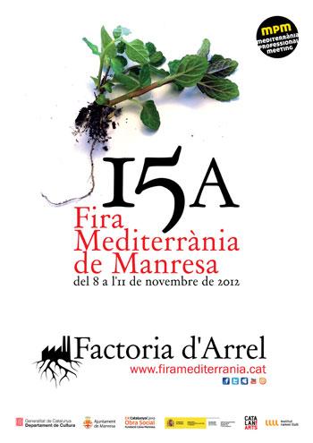 Cartel de la XV Fira Mediterrània de Manresa 2012