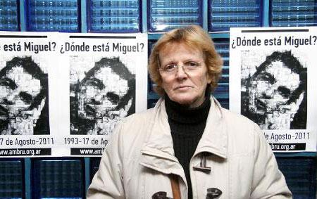Rosa Schoenfel, madre de Miguel Bru y presidenta de la Asociación Civil Miguel Bru.