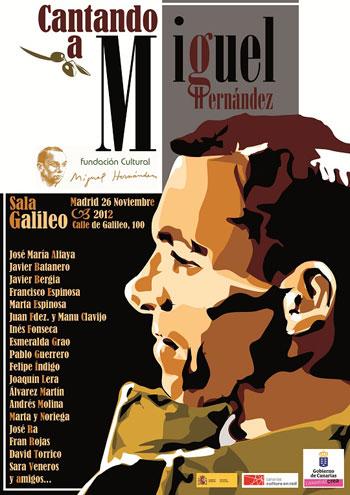 Cartel del concierto «Cantando a Miguel»