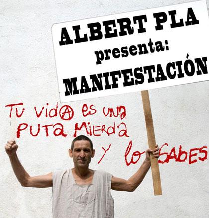 Cartel del concierto «Manifestación» de Albert Pla