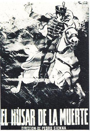 Afiche original de «El Húsar de la Muerte» de Pedro Sienna.