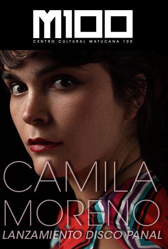 Cartel del concierto de Camila Moreno en Matucana 100