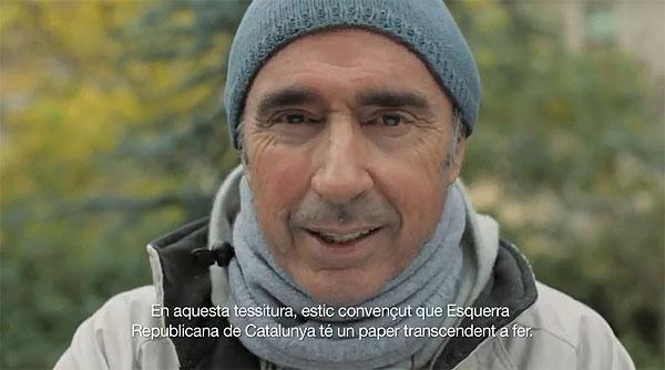 Lluís Llach en un fotograma del anuncio televisivo en donde pide el voto para ERC. © ERC