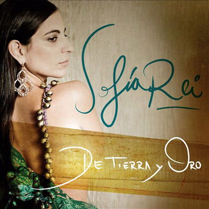 Portada del disco «De tierra y oro» de Sofía Rei.