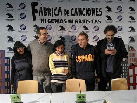 Presentación del disco «Fábrica de canciones. Ni genios, ni artistas». © EP