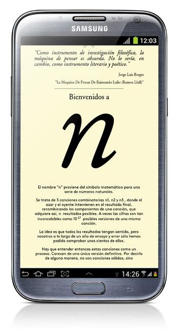 «n», la nueva app de Jorge Drexler.