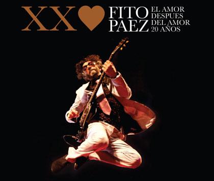 Portada del DVD «El Amor después del amor 20 años» de Fito Páez.