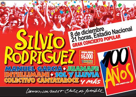 Concierto 100 aniversario del Partido Comunista de Chile.