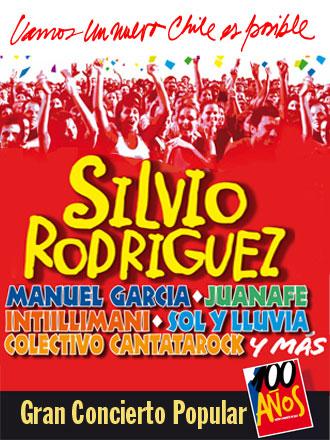 Concierto del Centenario del Partido Comunista Chileno.