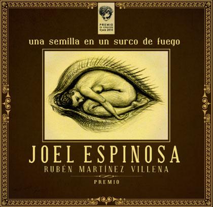 Portada del disco «Una semilla en un surco de fuego» de Joel Espinosa.