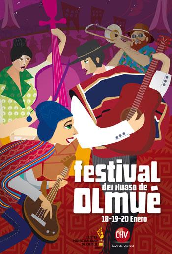 Cartel del XLIV Festival del Huaso de Olmué 2013