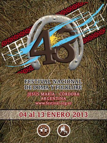 Cartel del 48 Festival Nacional de Doma y Folclore de Jesús María 2013