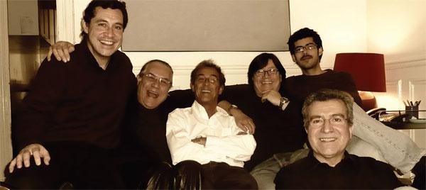 De izquierda a derecha: Patricio Wang, Patricio Castillo, Sergio Arriagada, Mario Contreras, Rodrigo González y Rodolfo Parada.