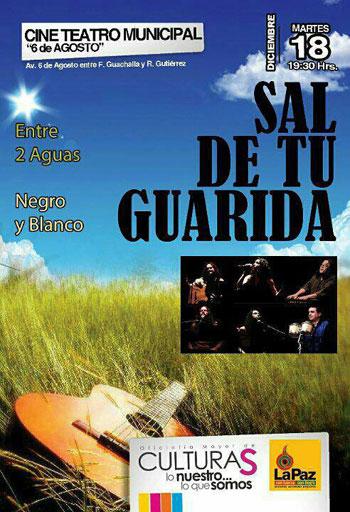 Cartel del concierto «Sal de tu guarida».