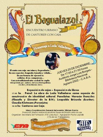 Cartel de «El bagualazo 2012»