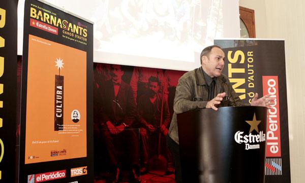 Pere Camps durante la presentación de la 18 Edición del Festival BarnaSants 2013. © Juan Miguel Morales