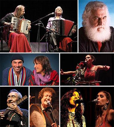 Folklore argentino en el Auditorium de Mar del Plata.