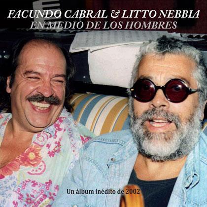 Portada del disco «En medio de los hombres» de Facundo Cabral y Litto Nebbia.