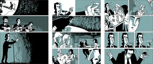 Fragmentos del cómic «Zitarrosa».