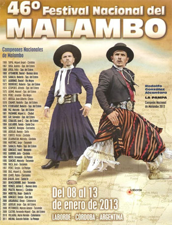 Cartel 46 Festival Nacional del Malambo 2013