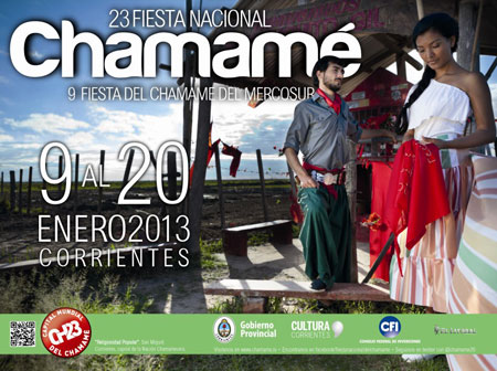 Cartel de la 23 Fiesta Nacional del Chamamé 2013.