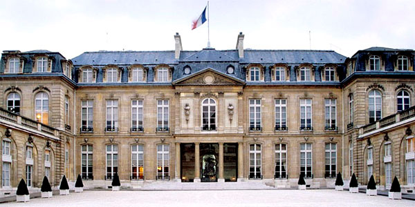 Palacio Presidencial del Elíseo en París (Francia).