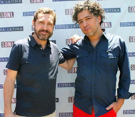 Patricio Wang con Manuel García la semana pasada en Chile. © SDNL