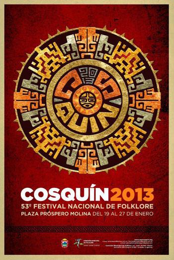 Cartel del 53 Festival de Cosquín 2013.