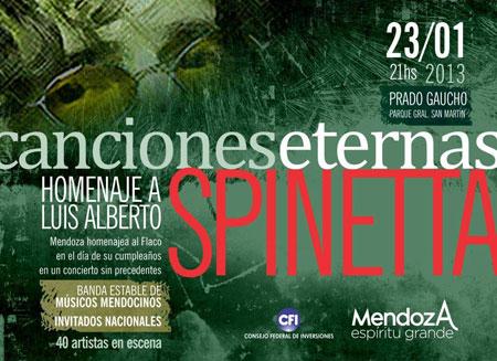 Cartel del concierto en homenaje a Luis Alberto Spinetta en Mendoza.
