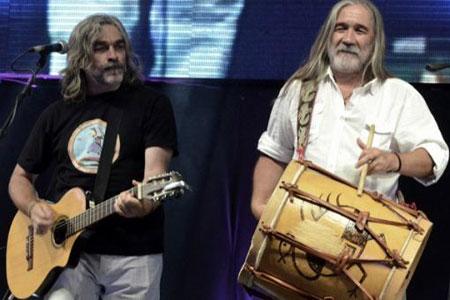Roberto Cantos y Julio Paz, el dúo Coplanacu. © Télam