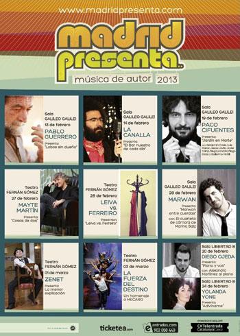 Cartel del III Madrid Presenta 2013