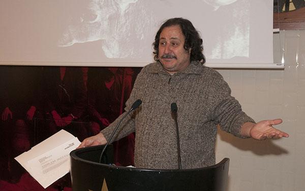 Daniel Negro recibiendo el premio Enderrock en reconocimiento de la Industria Cultural al Harlem Jazz Club. © Xavier Mercadé Simó/Enderrock.cat