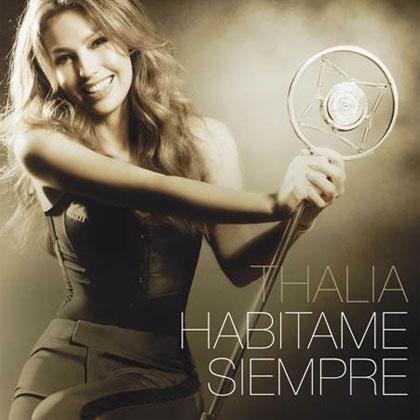 Portada del disco «Habítame siempre» de Thalía.