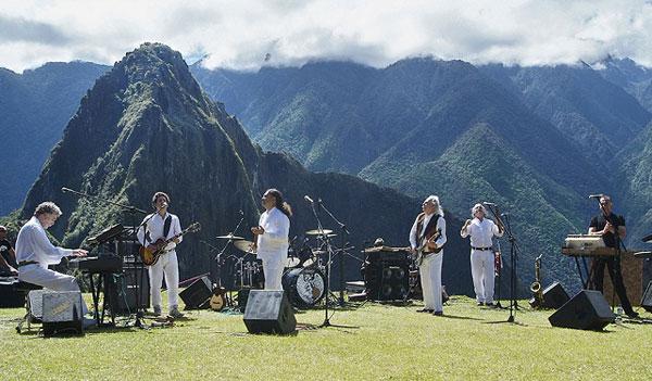 Los Jaivas en el Machu Picchu. © Osvaldo Palacios