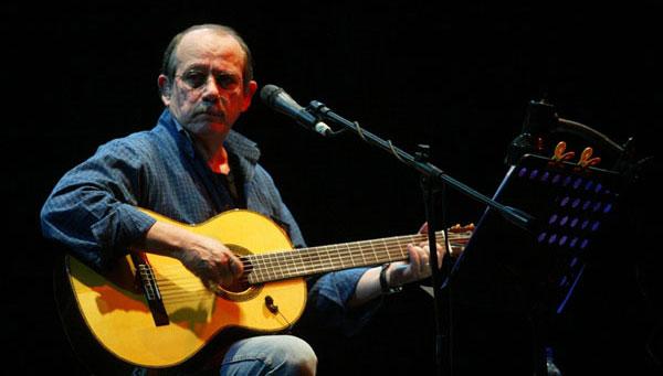 Silvio Rodríguez en el concierto que dio en Lima en el 2007. © Giancarlo Shibayama/El Comercio
