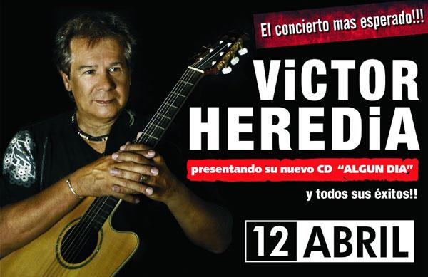 Víctor Heredia en vivo el viernes 12 de abril en el Teatro Opera Citi.