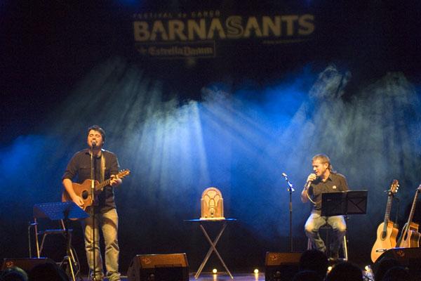 Miquel Abras y Cesk Freixas en el penúltimo concierto del 18 Festival BarnaSants. © Xavier Pintanel