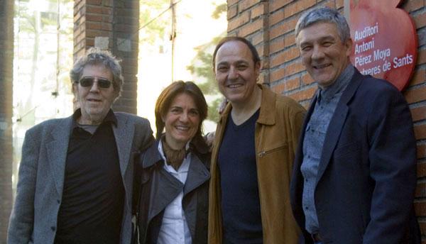 De izquierda a derecha: Francesc Pi de la Serra, Sílvia Comes, Pere Camps y Joan Manuel Parisi. © Xavier Pintanel